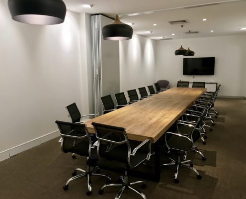 chuck norris double boardroom with screen sharing